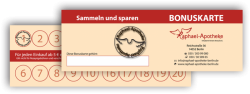Symbolfoto zeigt die Bonuskarte der Raphael-Apotheke auf einem Holzuntergrund.
