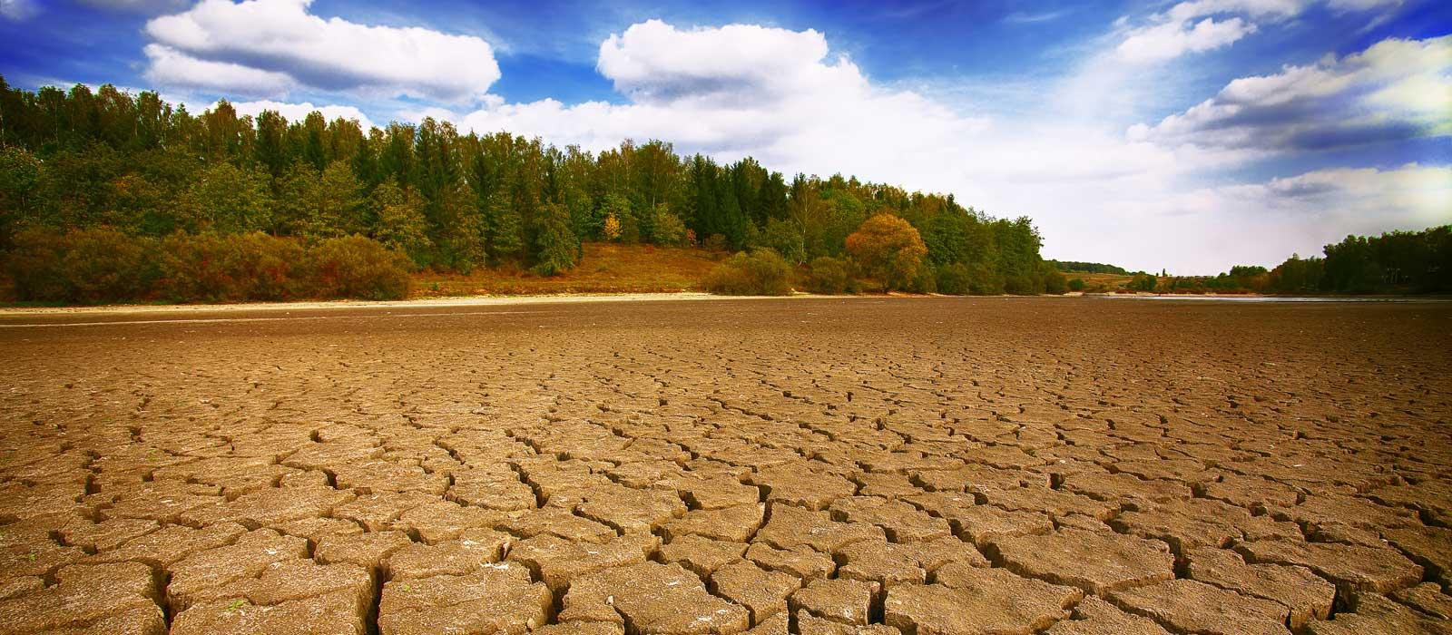 Symbolfoto zeigt eine trockene Landschaft als Symbol für trockene Haut
